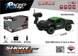 Brimarex Samochód RC Short Course 1:43 czarno-zielony