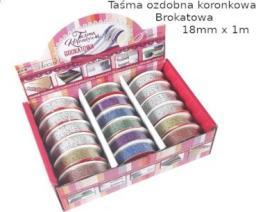 Polsirhurt Taśma ozdobna koronkowa, brokat 18mmx1m