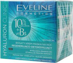 Eveline Hyaluron Clinic Bogaty Krem-Maska regenerująco-detoksykująca na noc 50ml