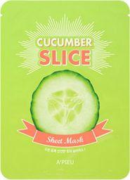Apieu Sheet Mask Cucumber Slice Łagodząco-nawilżająca maseczka 20g