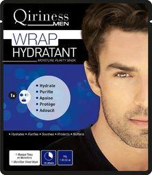 Qiriness QIRINESS_Men Wrap Hydratant Moisture Purity Mask maseczka nawilżająco zmiękczająca z kwasem hialuronowym 30g