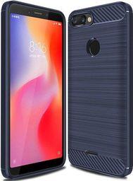Hurtel Carbon Case elastyczne etui pokrowiec Xiaomi Redmi 6 niebieski