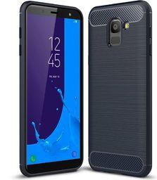 Hurtel Carbon Case elastyczne etui pokrowiec Samsung Galaxy J6 2018 J600 niebieski