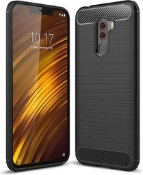 Hurtel Carbon Case elastyczne etui pokrowiec Xiaomi Pocophone F1 czarny