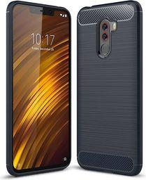 Hurtel Carbon Case elastyczne etui pokrowiec Xiaomi Pocophone F1 niebieski