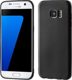 Hurtel Żelowy pokrowiec etui Soft Matt Samsung Galaxy S7 Edge G935 czarny