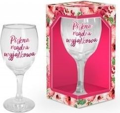 BGtech Kieliszek do wina 220 ml piękna, mądra, wyjątkowa