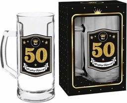 """BGtech Kufel do piwa Gold 500 ml """"50"""""""