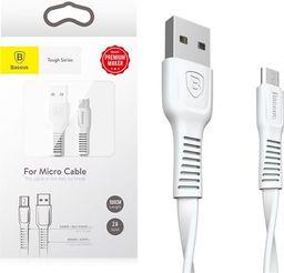 Kabel USB Baseus Kabel Baseus tough series micro usb 2A 1m biały CAMZY-B02