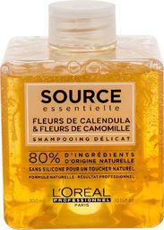 L'Oreal Professionnel Source Essentielle Delicate Shampoo naturalny szampon do delikatnej skóry głowy z Kwiatem Nagietka i Rumianku 300ml