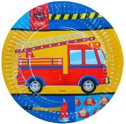 Aster Talerzyki papierowe Straż pożarna 6 szt - 18 cm
