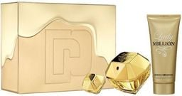 PACO RABANNE Zestaw Lady Million EDP spray 80ml + Body lotion 100ml + EDP spray 5ml