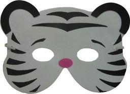 Aster Maska z pianki - tygrys biały, dla dzieci,