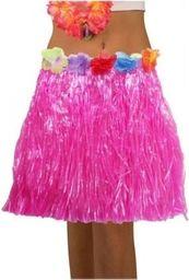 Aster Spódnica hawajska eko różowa 45 cm - przebrania i dodatki dla dorosłych