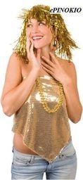 Aster Peruka lurex złota