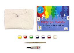 Akson Zestaw farb do tkanin 7 kolorów x 10 ml + tubka 25 ml + koszulka