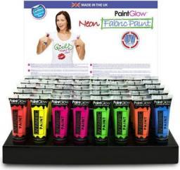 Akson Farba do tkanin UV PaintGlow - różowy