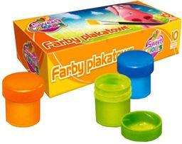 Akson Farby Plakatowe Szkolne 10 sztuk 20 ml OTOCKI