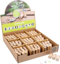 Small Foot Stempelki, pieczątki drewniane, Cyfra 3 , do zabawy dla dzieci pomoce montessori kod prod.10312
