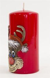 Świeca Rudolf Walec czerwona (59183)