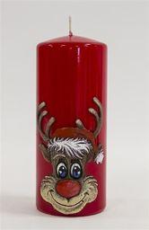 Świeca Rudolf Walec czerwona (59184)