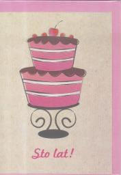 HENRY Karnet B6 - Urodziny, Tort
