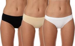 Brubeck Majtki damskie zestaw 3 szt. Comfort Cotton beżowy/biały/czarny r. S (BI10020A)