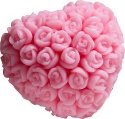 LaQ Happy Soaps Różowe Serce w Różyczki Wiśnia 45g