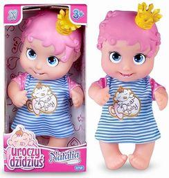 Artyk Lalka Natalia uroczy dzidziuś z różowymi włosami (305121)
