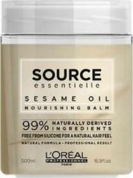 L'Oreal Professionnel Source Essentielle Nourishing Balm odżywcza maska do włosów suchych z Olejkiem Sezamowym 500ml