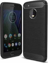 Hurtel Carbon Case elastyczne etui pokrowiec Lenovo Moto G5 Plus czarny