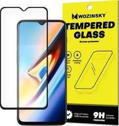 Wozinsky super wytrzymałe szkło hartowane Full Glue na cały ekran z ramką Case Friendly OnePlus 6T czarny