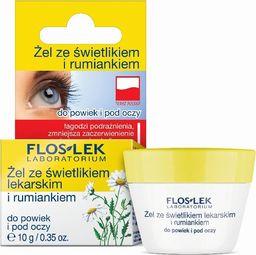 FLOSLEK Żel pod oczy ze świetlikiem lekarskim i rumiankiem 10g