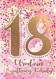 PASSION CARDS Karnet 18-te urodziny