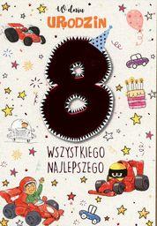 PASSION CARDS Karnet 8 urodziny chłopca PR-031