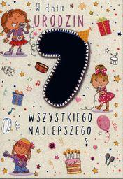 PASSION CARDS Karnet 7 urodziny dziewczynki PR-028