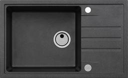 Alveus Intermezzo 130 czarny 91 (78x48) z syfonem manualnym