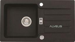 Alveus NIAGARA 30 775x430x160mm kolor 91 - czarny + syfon POP-UP, odwracalny