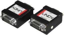 System przekazu sygnału AV Lindy Adapter VGA + Audio (jack stereo)   (35500)