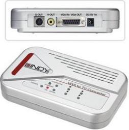 Adapter AV Lindy Konwerter VGA na composite, S-video (SVHS) (32566)