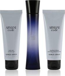 Giorgio Armani  Code Pour Femme: EDP dla kobiet 50 ml + balsam do ciała 75 ml + żel pod prysznic 75 ml