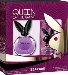 Playboy Queen Of The Game zestaw dla kobiet: woda toaletowa EDT 40ml + dezodorant w aerozolu 150 ml