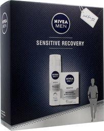 Nivea Nivea Zestaw prezentowy Men Sensitive Recovery (balsam po goleniu 100ml+pianka do golenia 200ml)