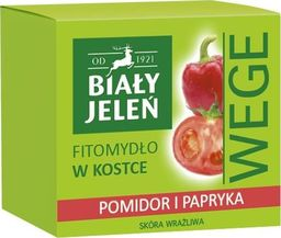 Biały Jeleń Fitomydło w kostce Wege Pomidor i papryka 130g