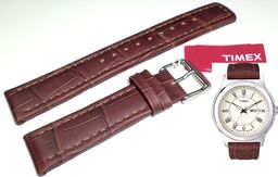 Timex Pasek do zegarka Timex T2E581 P2E581 20 mm Skóra uniwersalny