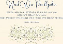 Koinonia Kartka Składana - Niech Was Pan Bogosławi