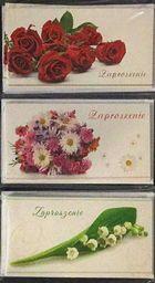 Stamp Zaproszenia Flowers 10szt. Mix