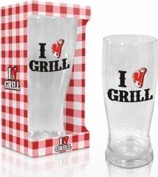 BGtech Szklanka do piwa I LOVE GRILL uniwersalny