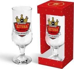 """BGtech Szklanka do piwa Gold 330 ml """"Twarda sztuka"""" uniwersalny"""