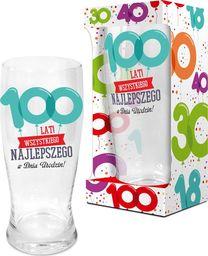 """BGtech Szklanka do piwa Baloniki 500 ml """"100 lat"""" uniwersalny"""